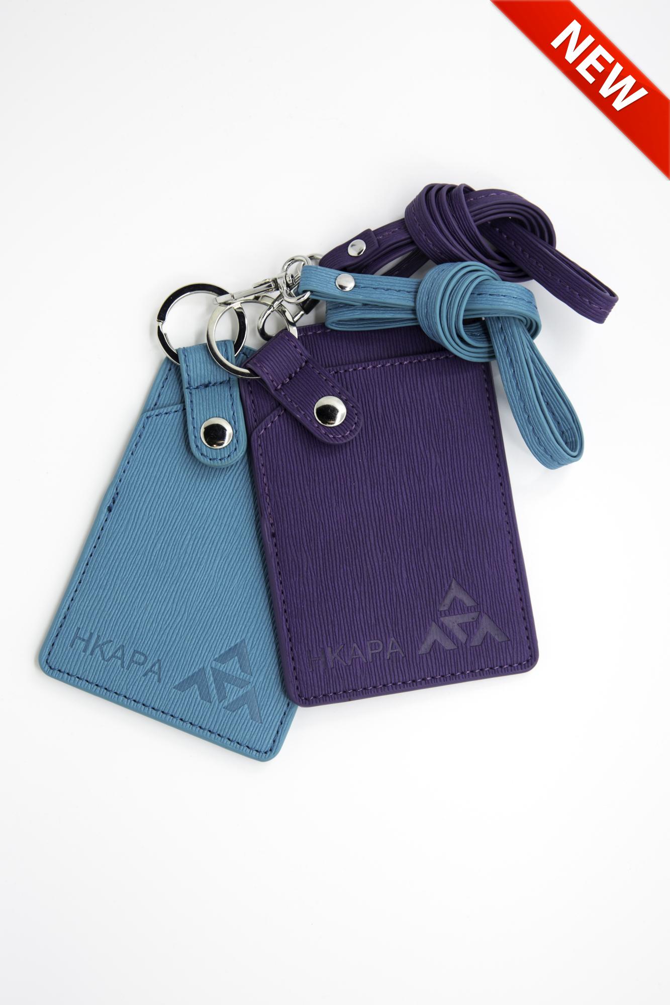 Badge Holder with Flat Lanyard (Purple/Blue)